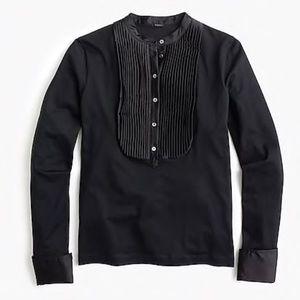 NWT J.Crew tuxedo inspired long sleeve t-shirt